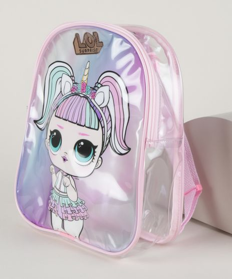 Mochila-Infantil-Lol-Surprise-Unicornio-Transparente--Multicor-9963664-Multicor_1