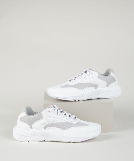 Tenis-Feminino-Sneaker-Chunky-com-Recortes-Branco-9962575-Branco_1