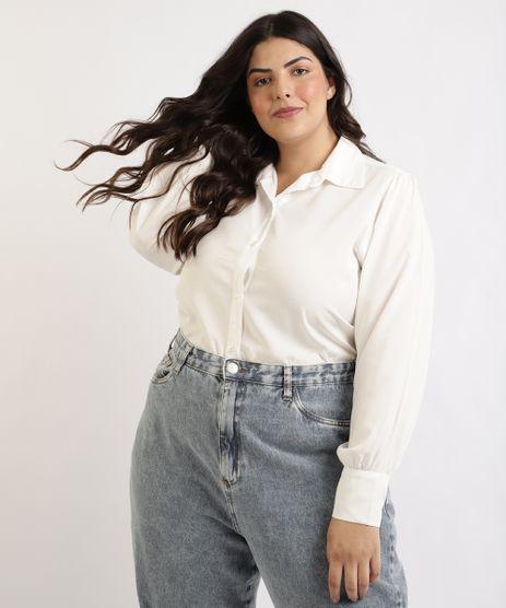 Camisa-Feminina-Plus-Size-Mindset-Manga-Longa-Branca-9964412-Branco_1
