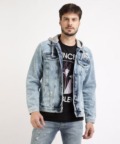 Jaqueta-Jeans-Masculina-com-Bolsos-e-Capuz-Azul-Medio-9961139-Azul_Medio_1