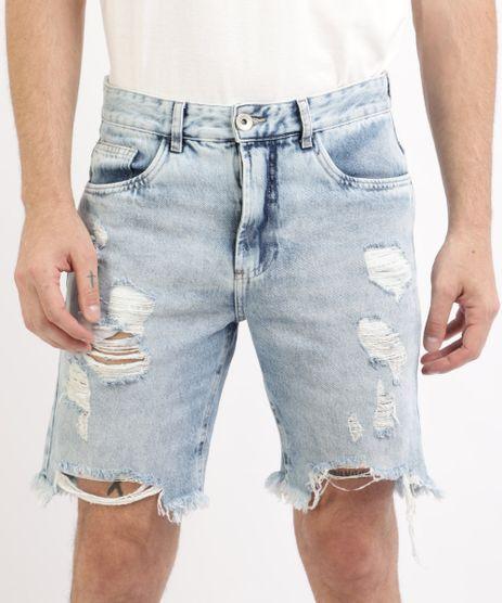 Bermuda-Jeans-Masculina-Slim-Destroyed-com-Bolsos-Azul-Claro-9961142-Azul_Claro_1