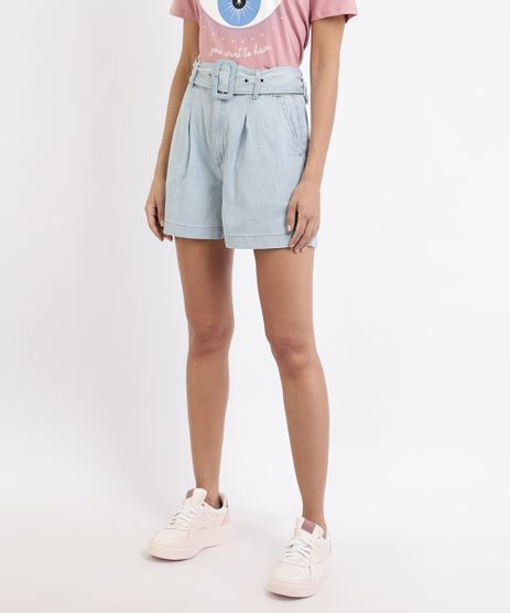 Bermuda-Jeans-Feminina-Alfaiatada-com-Bolsos-e-Cinto-Cintura-Alta-Azul-Claro-9965042-Azul_Claro_1
