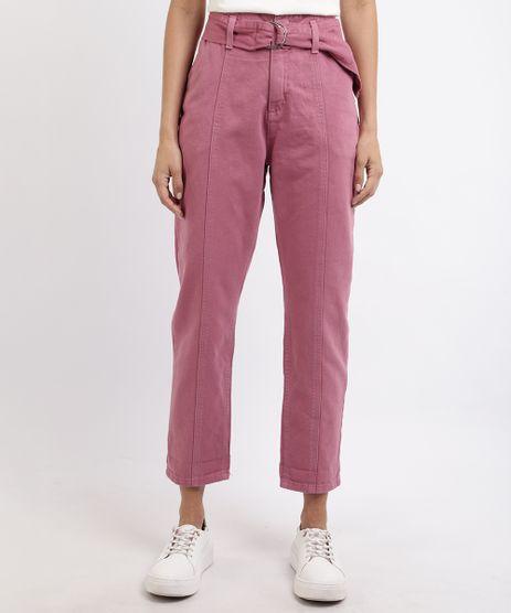 Calca-Jeans-Feminina-Clochard-Cintura-Super-Alta-com-Cinto-Roxa-9960652-Roxo_1