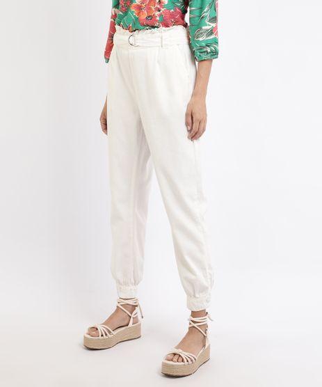 Calca-de-Sarja-Feminina-Jogger-Clochard-Cintura-Super-Alta-com-Cinto-Off-White-9960703-Off_White_1