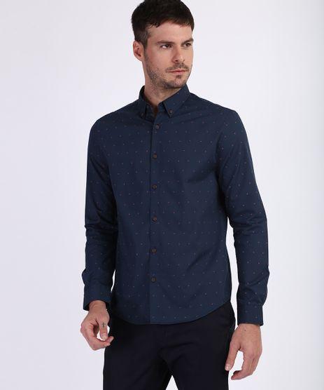 Camisa-Masculina-Tradicional-Estampada-Mini-Print-Flores-Manga-Longa-Azul-Marinho-9645919-Azul_Marinho_1