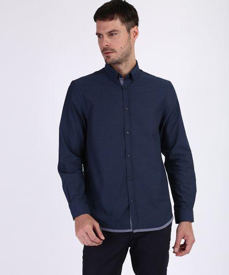 Camisa-Masculina-Comfort-Maquinetada-Manga-Longa-Azul-Marinho-9813625-Azul_Marinho_1
