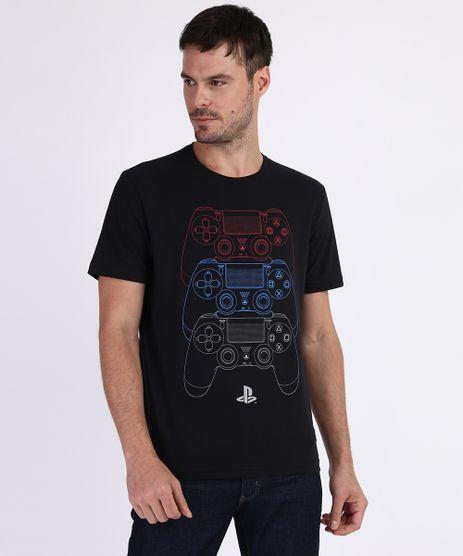 Camiseta-Masculina-Playstation-Manga-Curta-Gola-Careca-Preta-9959795-Preto_1