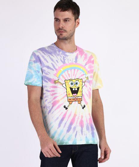Camiseta-Masculina-Bob-Esponja-Estampada-Tie-Dye-Manga-Curta-Gola-Careca-Multicor-9959812-Multicor_1