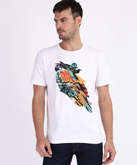 Camiseta-Masculina-Arara-Manga-Curta-Gola-Careca-Branca-9961636-Branco_1