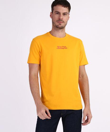 Camiseta-Garfield-Masculina--Manga-Curta-Gola-Careca-Amarela-9959811-Amarelo_1