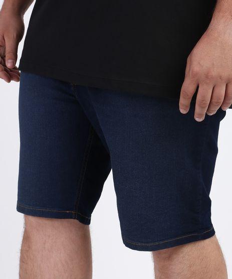 Bermuda-Jeans-Masculina-Plus-Size-com-Bolsos-Azul-Escuro-9951311-Azul_Escuro_1