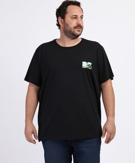 Camiseta-Masculina-Plus-Size-MTV-Manga-Curta-Gola-Careca-Preta-9963203-Preto_1