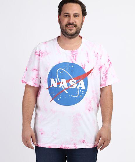 Camiseta-Masculina-Plus-Size-NASA-Estampada-Tie-Dye-Manga-Curta-Gola-Careca-Branca-9963239-Branco_1