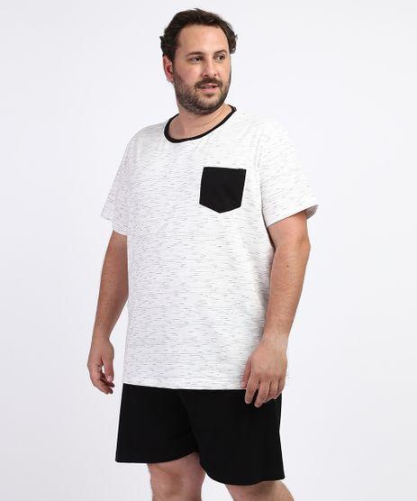 Pijama-Masculino-Plus-Size-Camiseta-com-Bolso-Manga-Curta-Gola-Careca-Off-White-9963324-Off_White_1