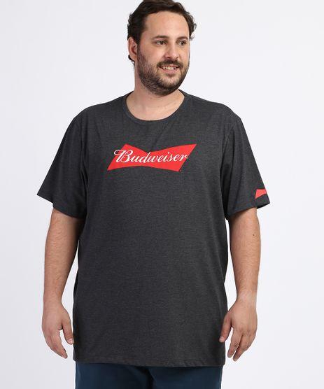 Camiseta-Masculina-Plus-Size-Budweiser-Manga-Curta-Gola-Careca-Cinza-Mescla-Escuro-9964017-Cinza_Mescla_Escuro_1