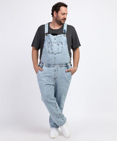 Macacao-Jeans-Masculino-Plus-Size-com-Bolsos-Azul-Medio-9965172-Azul_Medio_1