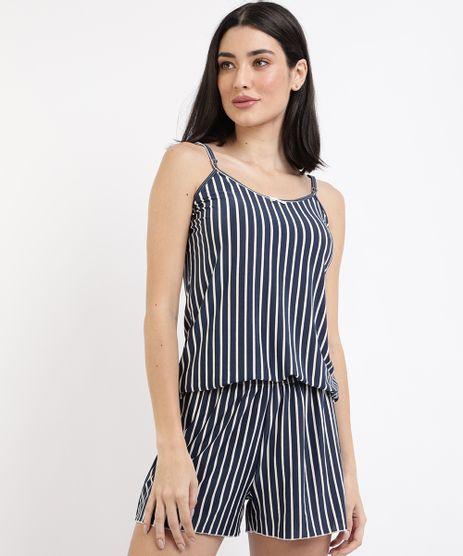 Pijama-Feminino-Estampado-Listrado-Alca-Fina--Azul-Marinho-9958850-Azul_Marinho_1