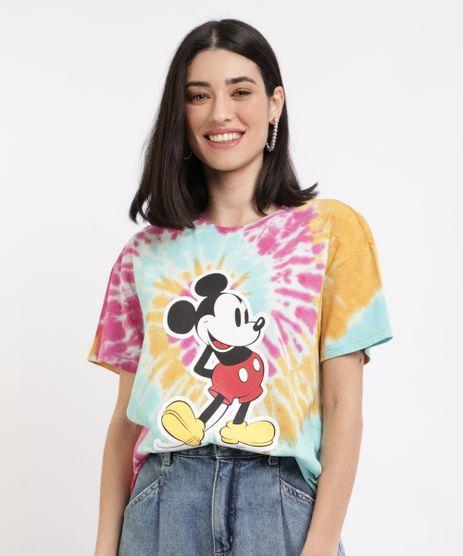 Blusa-Feminina-Mickey-Estampada-Tie-Dye-Manga-Curta-Decote-Redondo-Multicor-9962303-Multicor_1