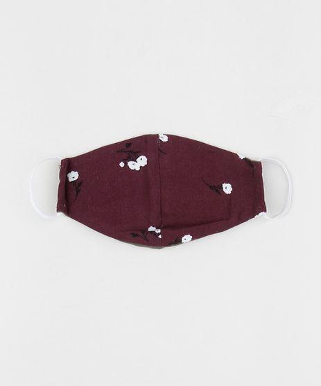 Mascara-de-Tecido-Reutilizavel-para-Protecao-Individual-Estampada-Floral-Vinho-9952494-Vinho_1
