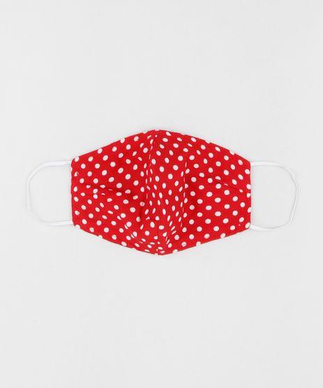 Mascara-de-Tecido-Reutilizavel-para-Protecao-Individual-Estampada-Poa-Vermelha-9953322-Vermelho_1