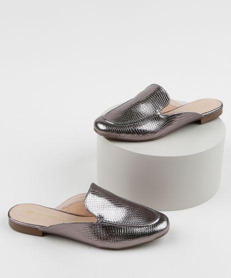 Mule-Feminino-Via-Uno-Metalizado-Textura-Croco-Prateado-9964832-Prateado_1