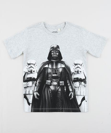 Camiseta-Infantil-Darth-Vader-Star-Wars-Manga-Curta-Gola-Careca-Cinza-Mescla-Claro-8823758-Cinza_Mescla_Claro_1