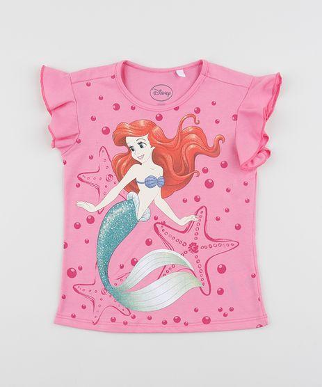Blusa-Infantil-Ariel-As-Princesas-Manga-Curta-com-Babados-Pink-9954102-Pink_1