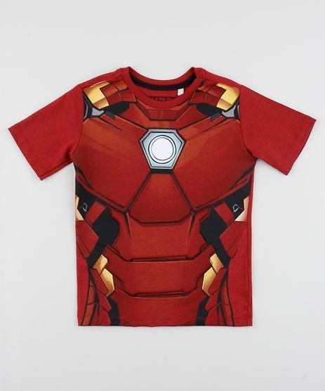 Camiseta-Infantil-Homem-de-Ferro-Manga-Curta-Vermelha-9958255-Vermelho_1