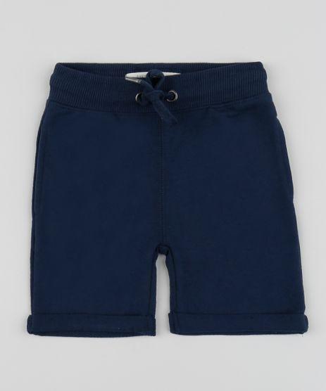 Bermuda-em-Moletom-Infantil-com-Cordao-e-Bolsos-Azul-Marinho-9791583-Azul_Marinho_1