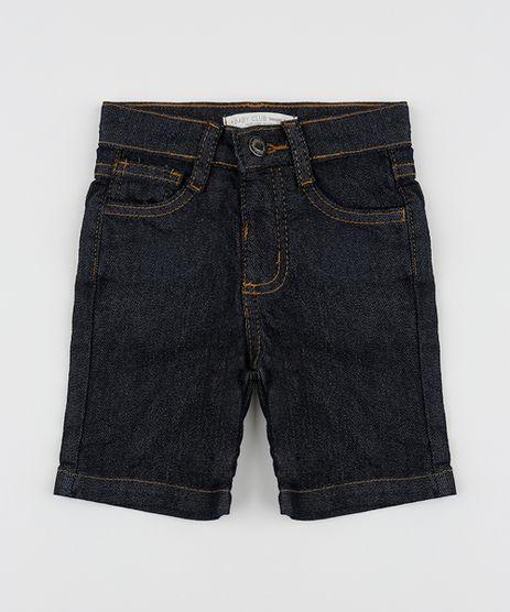 Bermuda-Jeans-Infantil-Reta-com-Bolsos-Azul-Escuro-9949487-Azul_Escuro_1