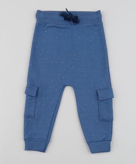Calca-de-Moletom-Infantil-Saruel-com-Bolsos-Azul-9955190-Azul_1