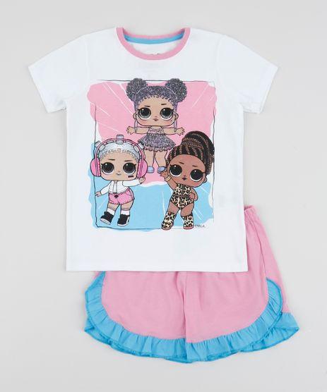 Pijama-Infantil-Lol-Surprise-Manga-Curta-Branco-9958964-Branco_1