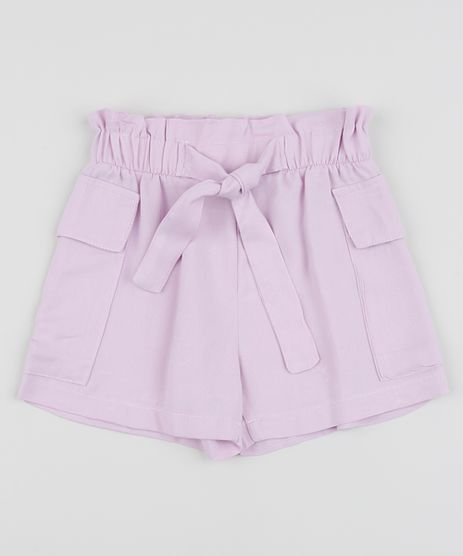 Short-Infantil-Clochard-com-Faixa-para-Amarrar-Lilas-9963557-Lilas_1