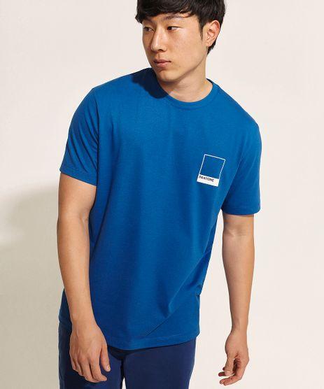 Camiseta-Masculina-Pantone-Manga-Curta-Gola-Careca-Azul-9958968-Azul_1