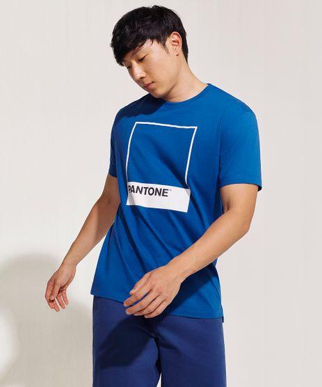 Camiseta-Masculina-Pantone-Manga-Curta-Gola-Careca-Azul-9959146-Azul_1
