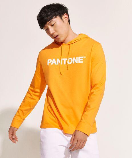 Camiseta-Masculina-Pantone-com-Capuz-Manga-Longa-Laranja-9959152-Laranja_1