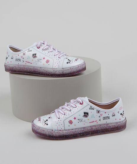 Tenis-Infantil-Molekinha-Estampado-e-Solado-com-Glitter-Branco-9962045-Branco_1