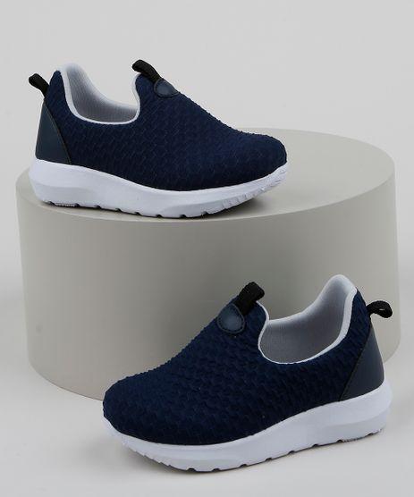 Tenis-Infantil-Baby-Club-Knit-Calce-Facil-Texturizado-Azul-Escuro-9963179-Azul_Escuro_1