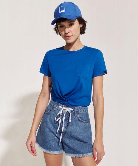 Blusa-Feminina-Pantone-Com-no-e-Bolso-Manga-Curta-Decote-Redondo-Azul-9958807-Azul_1