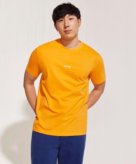 Camiseta-Masculina-Pantone-Manga-Curta-Gola-Careca-Laranja-9958967-Laranja_1