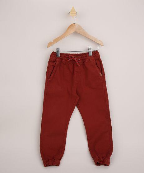 Calca-de-Sarja-Infantil-Jogger-com-Cordao-Vermelha-9432921-Vermelho_1