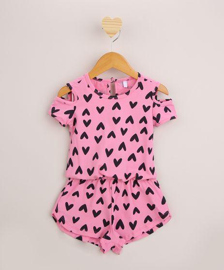 Macaquinho-Infantil-Open-Shoulder-Estampado-de-Coracoes-Manga-Curta -Rosa-9952882-Rosa_1