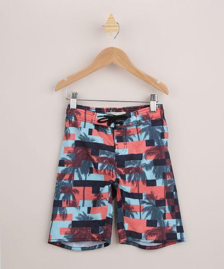 Bermuda-Surf-Infantil-Estampada-Geometrica-e-Coqueiros-com-Cordao--Multicor-9954487-Multicor_1