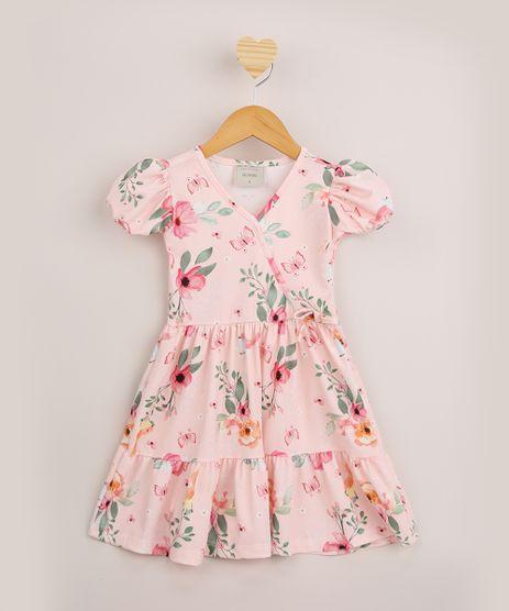 Vestido-Infantil-Transpassado-Estampado-Floral-Manga-Curta-Rosa-9958342-Rosa_1