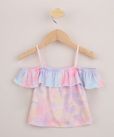 Blusa-Infantil-Open-Shoulder-Estampada-Tie-Dye-Manga-Curta-Lilas-9960936-Lilas_1
