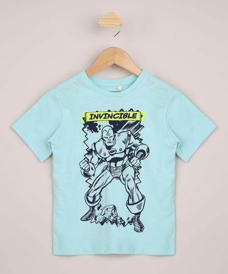 Camiseta-Infantil-Homem-de-Ferro-Manga-Curta-Verde-9962549-Verde_1