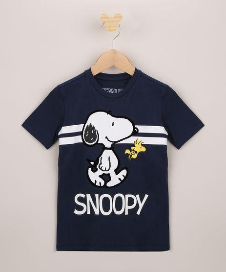 Camiseta-Infantil-Snoopy-Manga-Curta-Azul-Marinho-9963062-Azul_Marinho_1