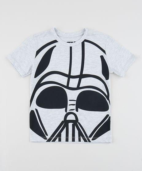 Camiseta-Infantil-Darth-Vader-Star-Wars-Manga-Curta-Gola-Careca-Cinza-Mescla-Claro-9953507-Cinza_Mescla_Claro_1