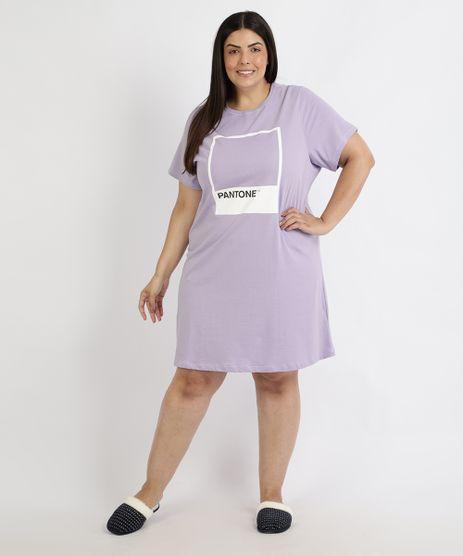 Camisola-Feminina-Plus-Size-Pantone-Blusa-Manga-Curta-Lilas-9960366-Lilas_1