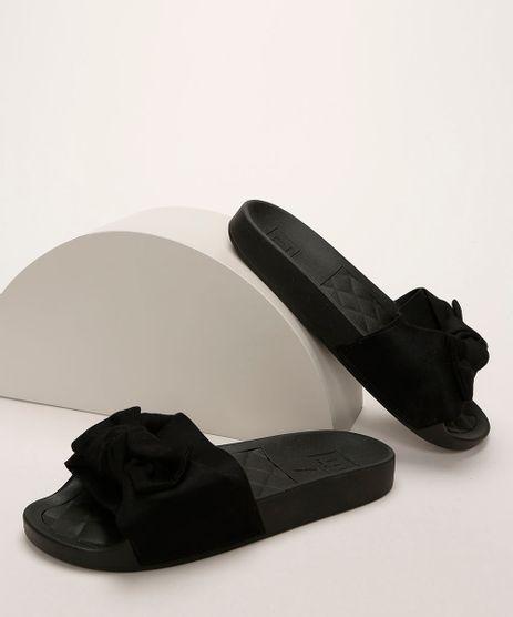 Chinelo-Feminino-Moleca-Slide-com-Suede-e-Laco-Preto-9961295-Preto_1